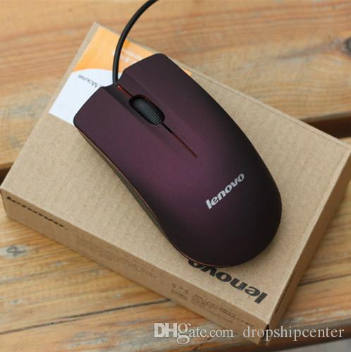 USB optische muis mini 3D bekabeld gaming muizen met doos voor computer laptop notebook spel Lenovo M20 gratis verzending