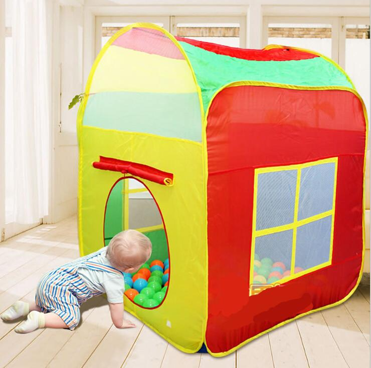 quality design fc240 c73ee Big Size Kids Play Tents Outdoor Garden Folding Portable Toy Tent Pop Up  Multicolor Independent House Children Gift Kids Outdoor Tent Tents For Boys  ...