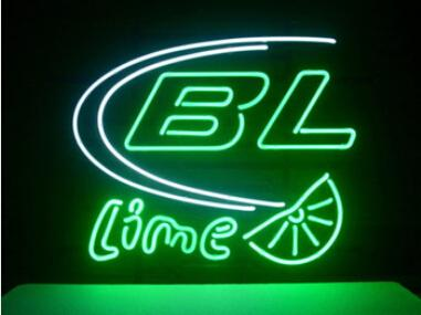 """Bud Light Lime Neon Sign Custom Handcrafted Real Glass Tube Neon Soft Drink Store Bar Club Pub Advertising Dsiplay Neon Signs 19""""X15"""""""