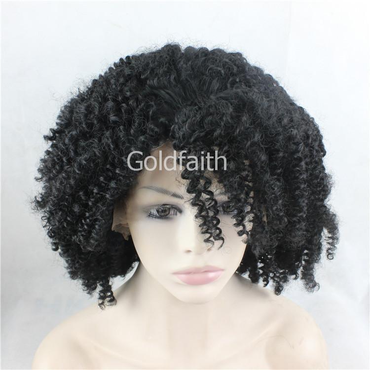 2015 нового прибытие женщин способ кудрявого Curl парик Afro Curl высокой температура Синтетический фронт шнурок кудрявый парик для чернокожих женщин