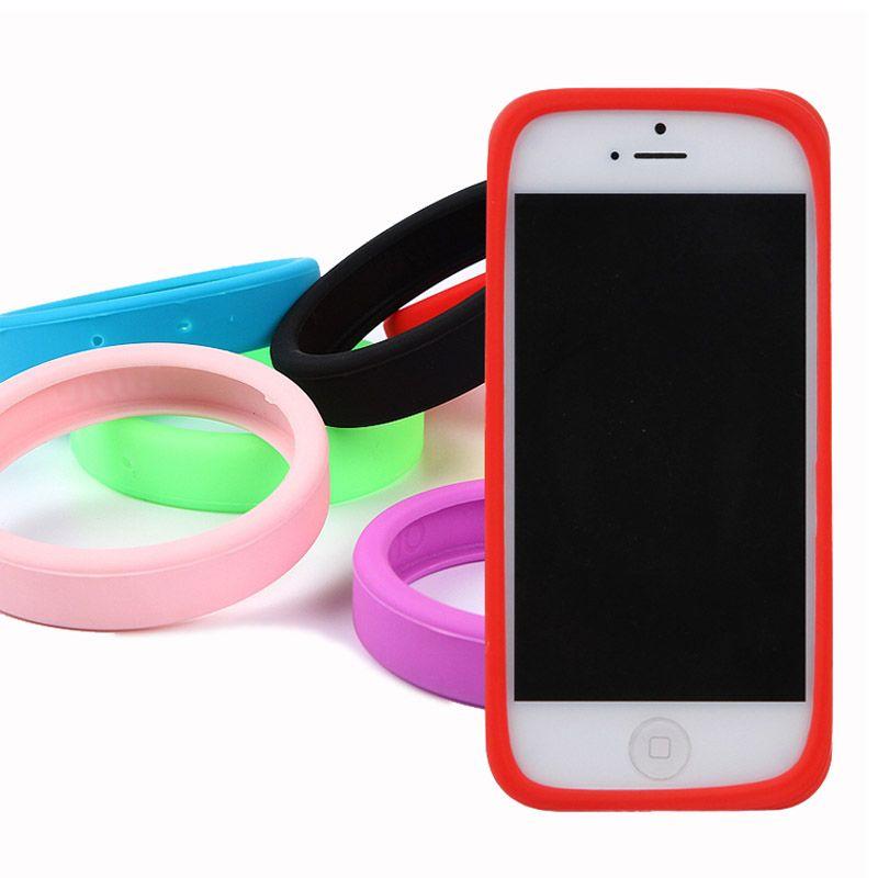Lichtgevende Silicon Armband Bumper Mobiele Telefoon Gevallen Cover voor Apple iPhone 5 5 S 6 6 S