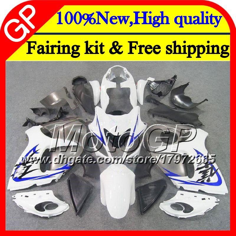 Karosserie für SUZUKI Hayabusa GSXR1300 08 09 10 11 42GP34 GSX R1300 12 13 14 15 GSXR 1300 2012 2013 2014 2015 Weiß Grau Motorradverkleidung