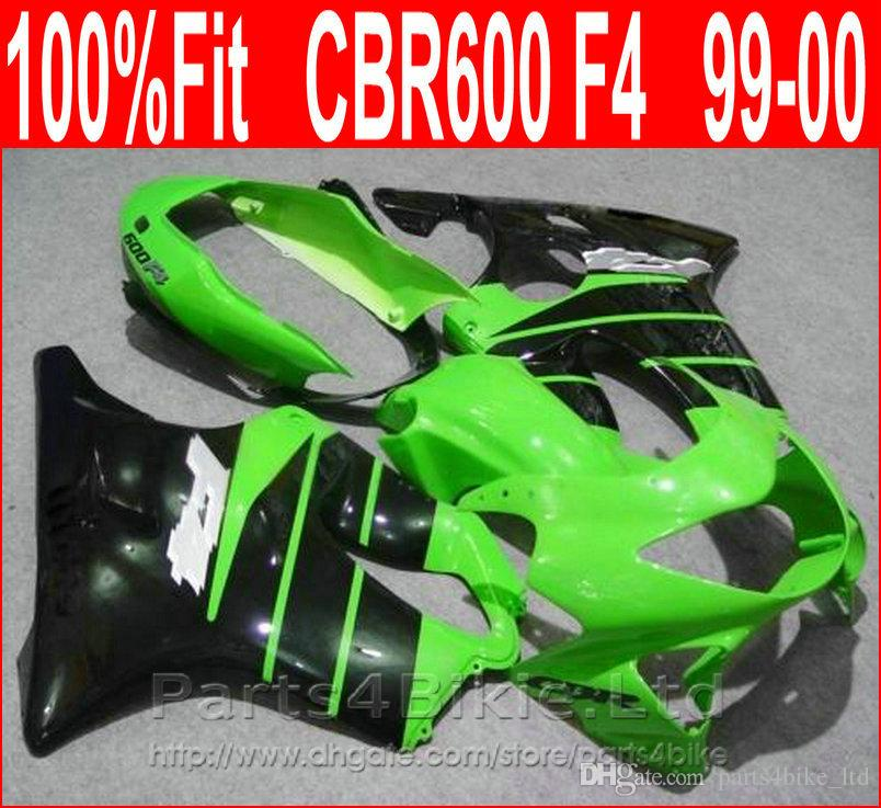Hot sale green black body repair parts for Honda fairing CBR600 F4 99 00 CBR 600 F4 1999 2000 fairings kit FIAY
