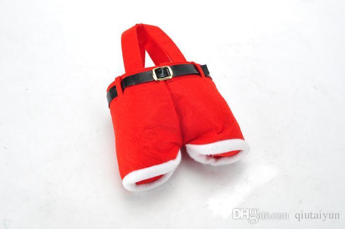 SELL WELL Santa pants style Christmas candy gift bag Xmas Bag Gift Christmas Sugar Packaging Bag Christmas H438