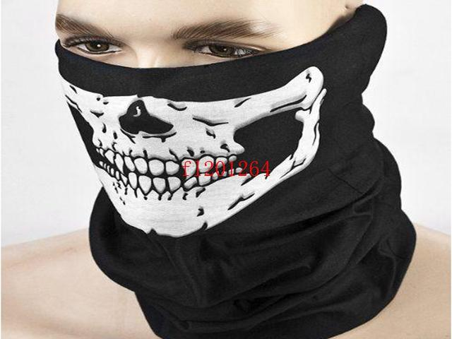 Free Shipping Fashion Skull Design Multi Function Bandana Motorcycle Biker Face Mask Neck Tube Scarf,100pcs/lot