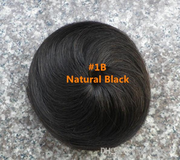 Women Hairpieces Dish Hair Bun Real Hair Fashion Ponytail Scrunchie