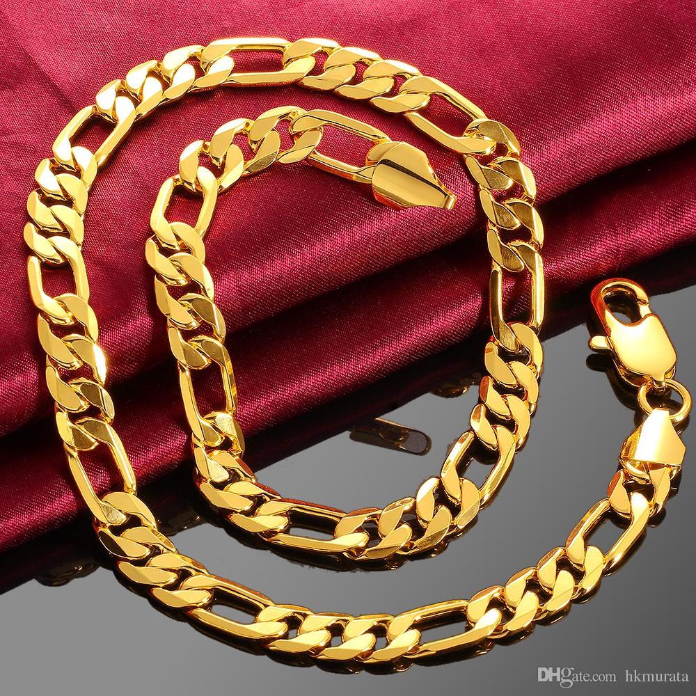 neues verschiedene Stile schöne Schuhe Großhandel Männer Halskette Aus 18K Rose Gold Halskette Schmuck 10mm 20quot  Lange Verdreht Singapur Ketten Panzerkette Halskette Geschenk Tasche ...
