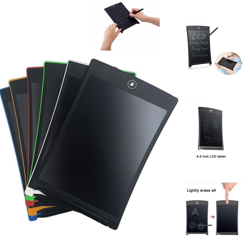 8.5 بوصة لوحات الرسومات eWriter بخط اليد الوسادات خطة الوسادة بالغين أطفال أطفال LCD شاشة الكتابة قرص رسم لوحة القلم