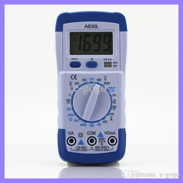 포켓 DMM 디지털 멀티 미터 A830L Ammeter 멀티 테스터 전압계 Megohmmeter Ohmmeter HFE 현재 테스터 LCD 백라이트