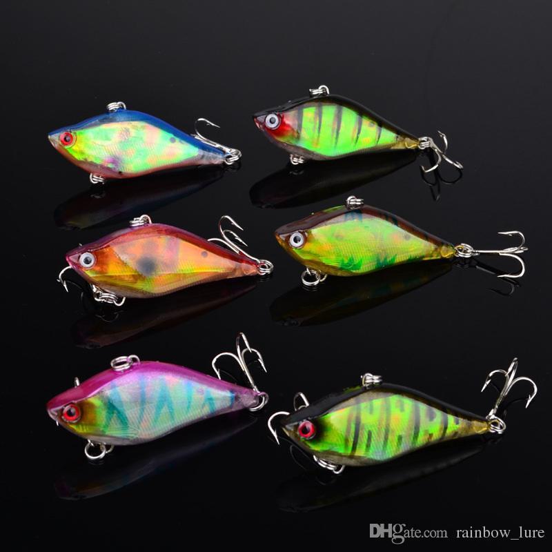 Yeni Dudaksız VIB Crankbaits Cazibesi Kanca 60mm 13g 6 renkler Balık Swimbaits cazibesi Deniz Mahsülleri plastik minnow sert yem