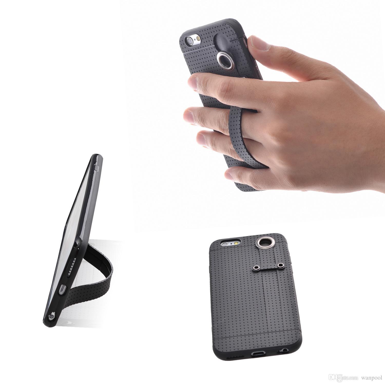 TFY Soft Case Capa com Alça de Mão Holder Suporte para iPhone6 / 6s