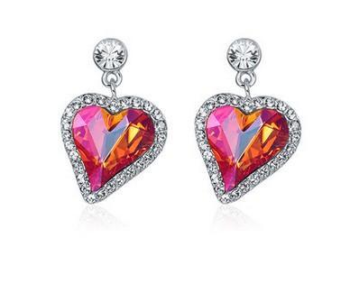 два цвета алмазное сердце серьги Ади (yt-jd ) dssdwe