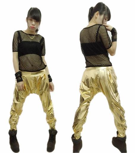 Nowy Moda Jazz Harem Kobiety Hip Hop Taniec Spodnie Performance Costume Luźne Osobowość Paillette Spodnie
