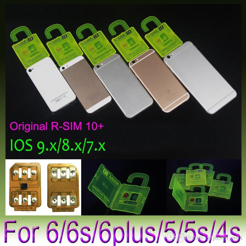 Rsim 10+ Rsim + Cartão Unlock PLUS RSIM10 10+ para iPhone 6S 6 5s 6plus 4s Perfeito Unlock ATT T-Mobile Sprint WCDMA GSM CDMA DHL 200pcs / lot