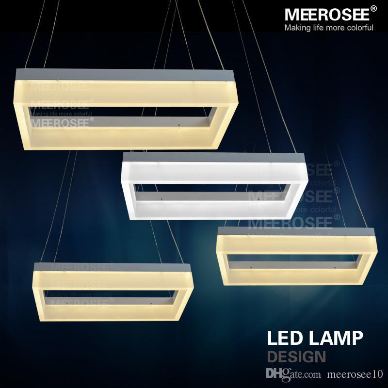 moderne led pendent lampe weie acryl rechteck aufhngung licht fr esszimmer moderne neue design led lampe - Feuer Modernen Design Rotes Esszimmer