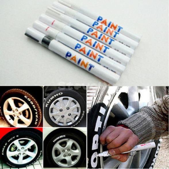 방지 된 페인트 마커 펜 모터 자동차 타이어 타이어 휠 금속 고무 플라스틱
