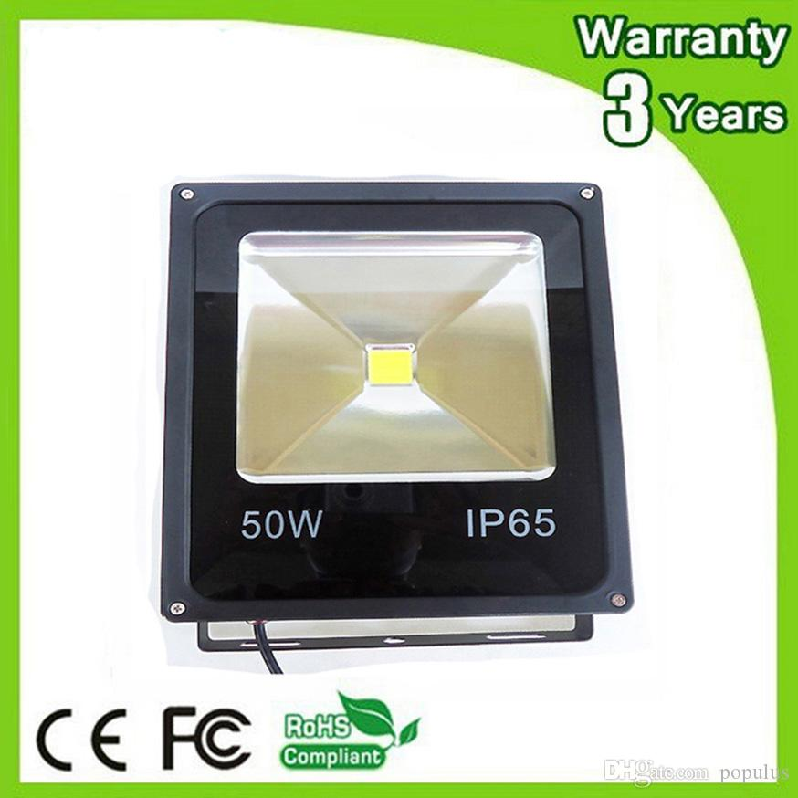 LED Floodlight 50W LED Flood Light Waterproof IP65 20PCS Thick Housing 100-110LM/W Super Bright AC85-265V 3 Years Warranty Free Shipping
