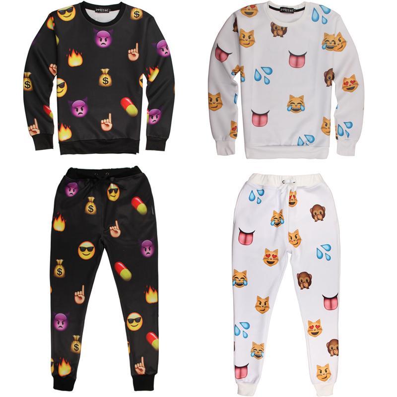 Compre Emoji Traje De Emoji Ropa Emoji Corredores Y Sudadera De Moda Emoji Pantalones De Iswag Chandales 3d Emoji Conjunto De Carrito De Deporte Traje De Emoji Ropa A 20 21 Del