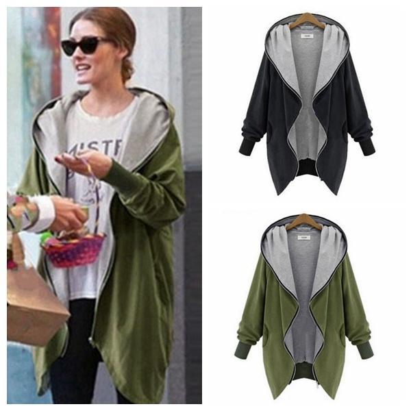 2021 New Arrival 2015 Women Fashion Cotton Warm Loose Hoodie Zipper  Sweatshirts Casual Cardigan Coat Hot Sale Plus Size XL 5XL From Cszzt,  $37.19 | DHgate.Com