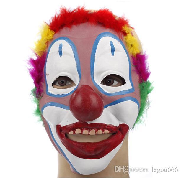 Хэллоуин маскарад Хэллоуин украшения продукты латекс клоун маска маска клоун производительность реквизит аксессуары JIA238