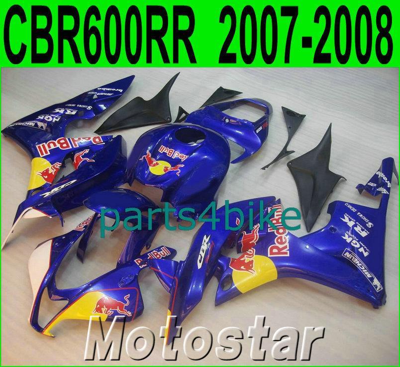 Moldeo por inyección para Honda CBR600RR Kit de carenización 2007 2008 Plástico Amarillo Azul CBR 600 RR F5 07 08 Ferias LY22 + 7 Regalos