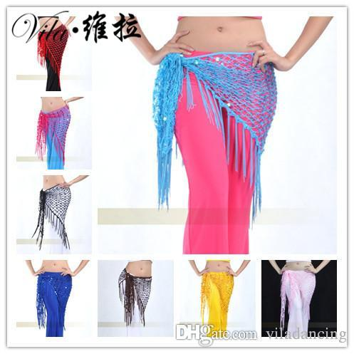Belly dance hip scarf sequins belly dance belt bandage Dance belt 10 colors for your choice
