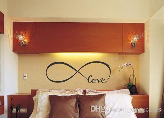Personalized Infinity Symbol Bedroom Vinyl Wallpaper Diy Wall Decals Love Quotes Painting Wall Art Bedroom Decor Wall Stickers Sticker Decor For Walls