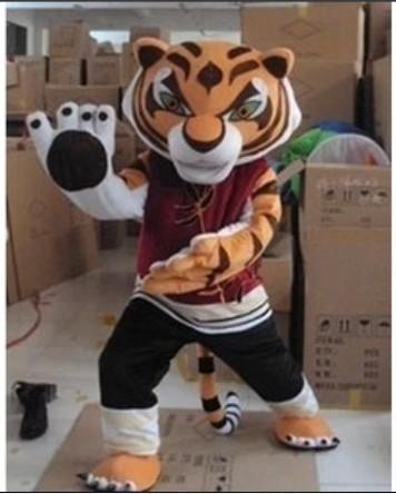 le kung fu panda 039 s kung fu tigre costume de mascotte de tigre dessin anim v tements. Black Bedroom Furniture Sets. Home Design Ideas