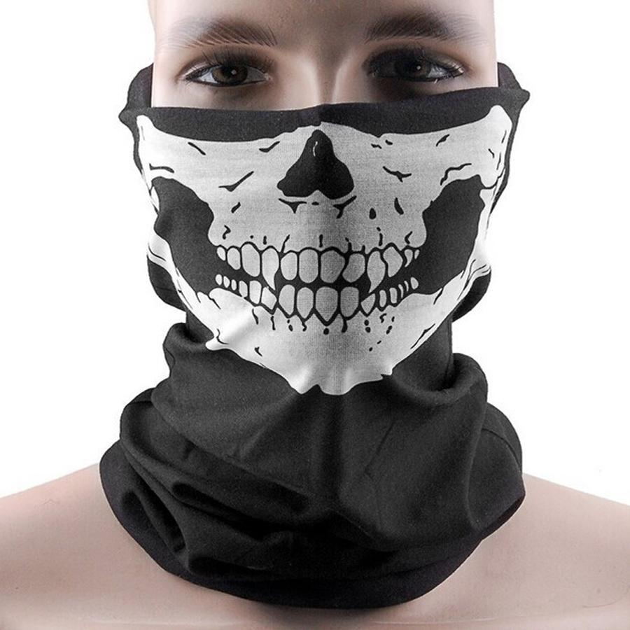 Hot sales Skull Bandana Bike Motorcycle Helmet Neck Face Mask Ski Cycling Sport Headband free shipping