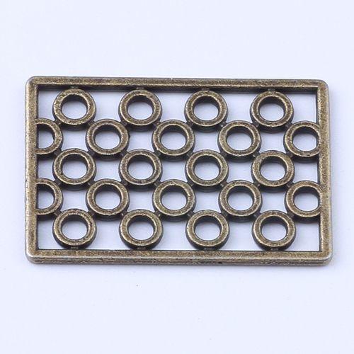 2016 новая мода медь ретро прямоугольник бисера производство DIY pandora ювелирных изделий кулон fit ожерелье или браслеты Шарм 300 шт. / лот 1413c