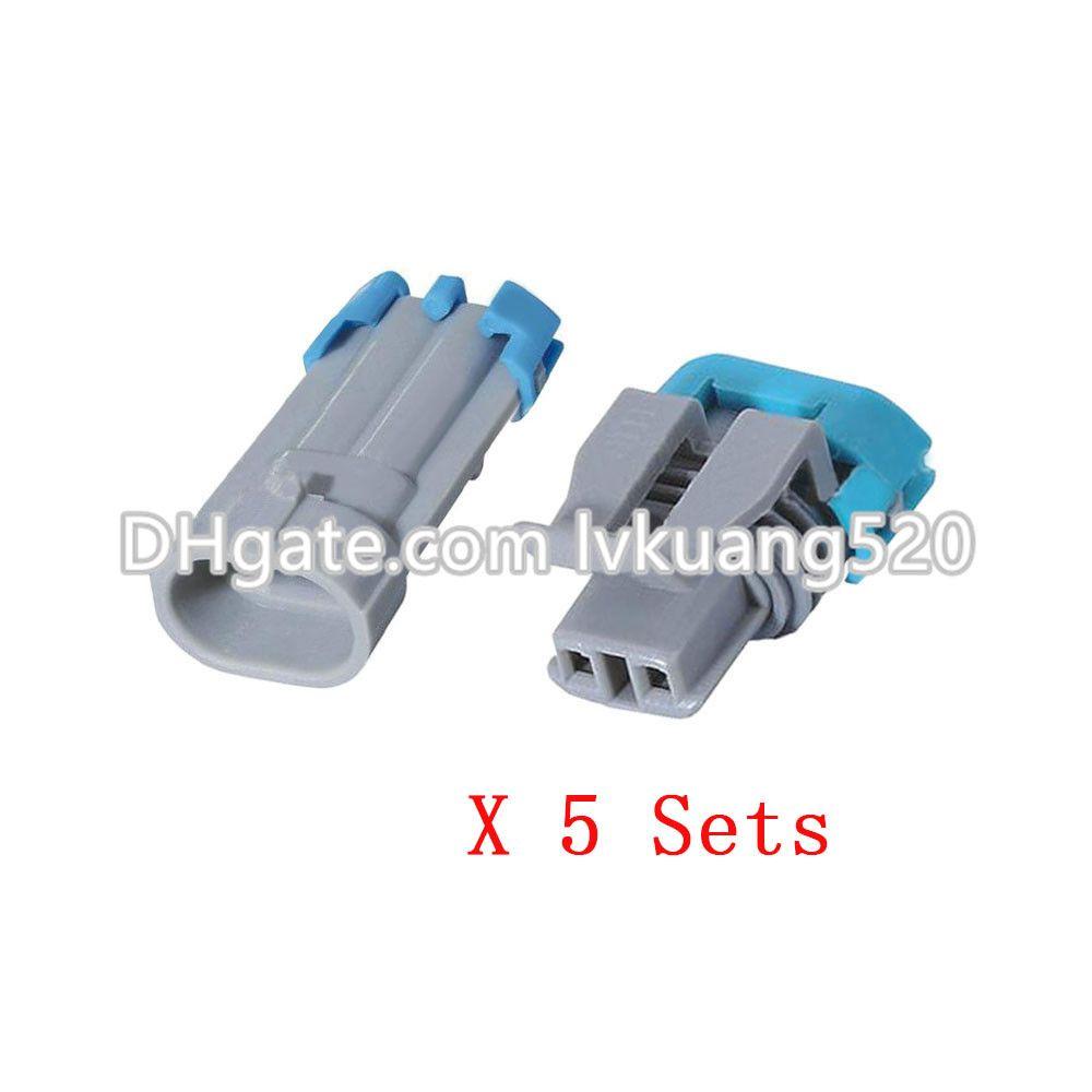 5 Sätze 2-poliger Kfz-Steckverbinder mit wasserfestem Stecker und Anschluss DJ7024B-1.5-11 / 21