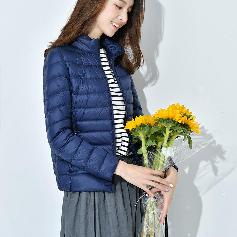 2019 neue schlanker dünne Jacke Kragen weiblicher koreanischer Wintermantel kurze bewegliche bewegliche Kleiderordnung