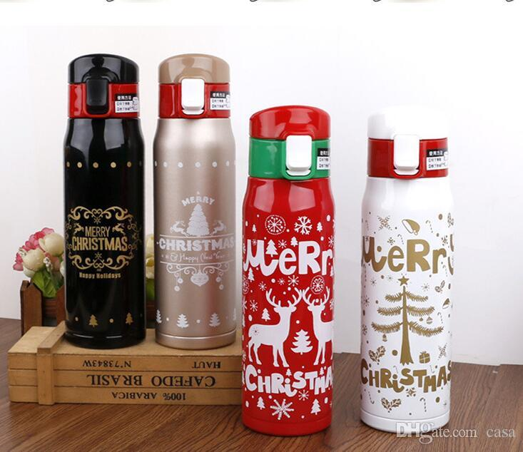 500ml Water Bottle Stainless Steel Water Bottle Portable 17Oz Christmas Gifts US