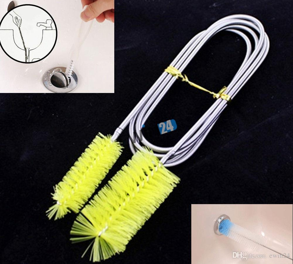 New 155CM Metal and Plastic Tube Cleaning Brush Flexible Double Head for Aquarium Filter Pump Pipe 5pcs