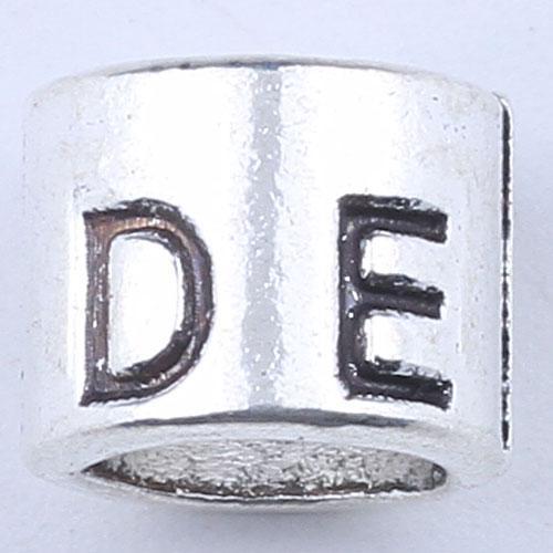 Новая мода серебро/медь DIY ювелирных изделий кулон цилиндрической DESEL алфавит подвески Fit ожерелье или браслет 300pcs/много 1864c