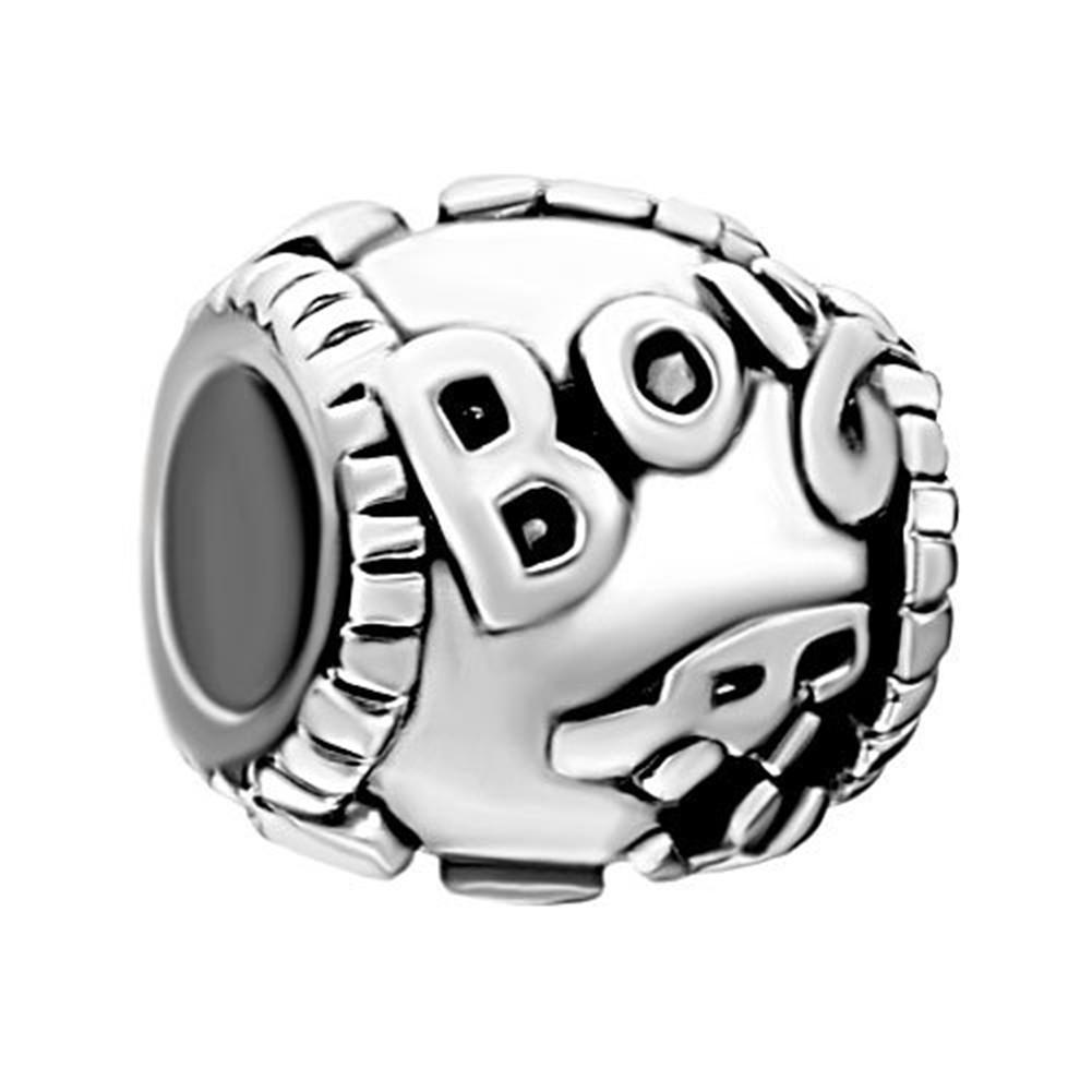 Metal Slider Spacer Big Hole Family Boy car European Bead Fit Pandora Chamilia Biagi Charm Bracelet