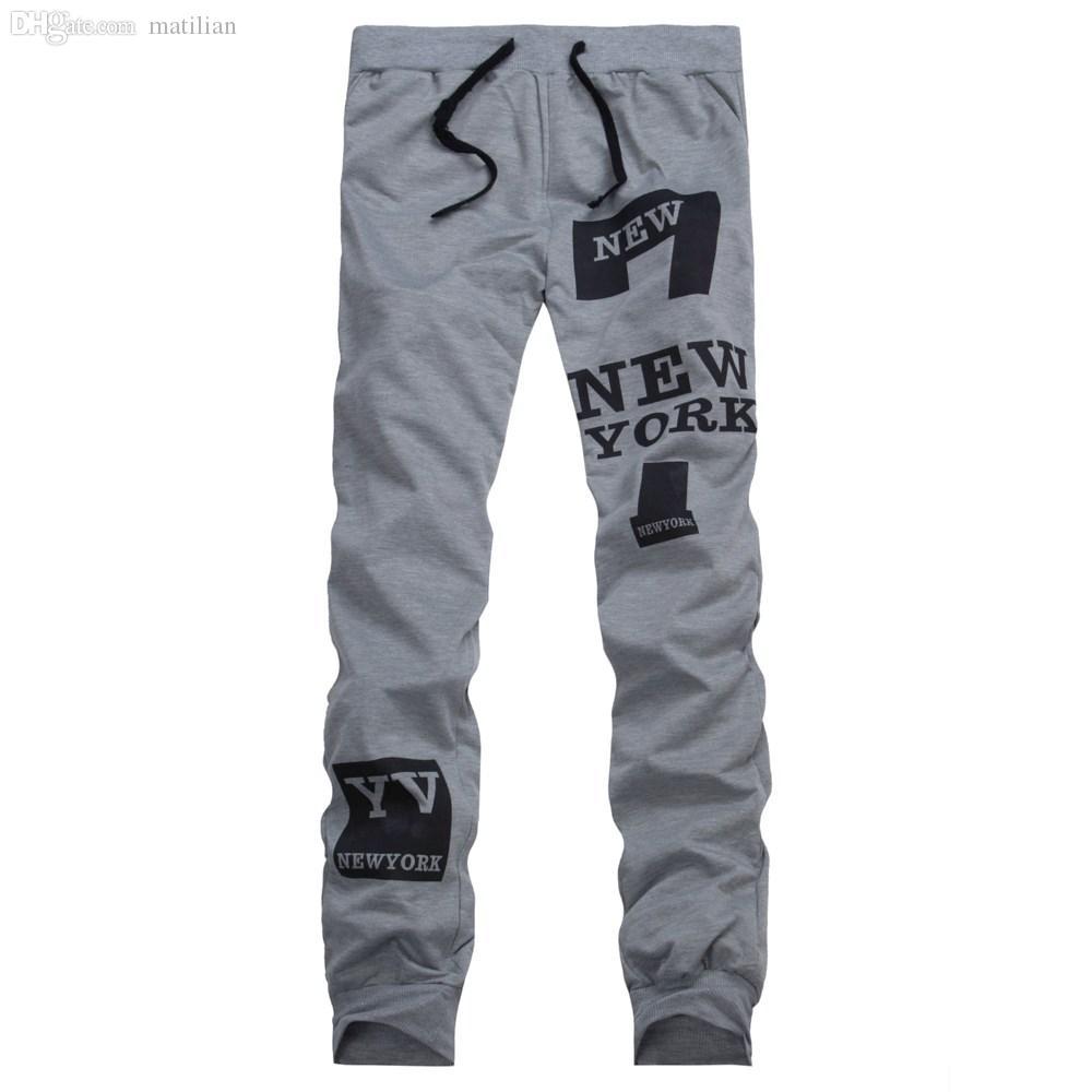 Wholesale-2016 الأعلى أزياء الرجال السراويل الرياضية ركض فضفاض عارضة تراكسويت إلكتروني الحريم السراويل sweatpants الهيب هوب بنطلون الغمد L-3XL