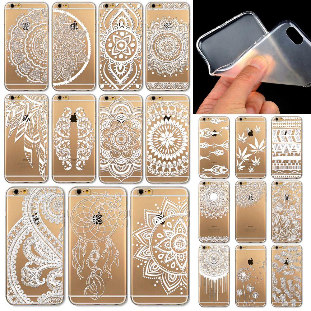 Henna Blanc Floral Paisley Fleur Mandala En Plastique Dur Retour Cas De Téléphone Portable Pour Apple Iphone 6 4.7 5 5G 4S 5S 6PLUS 5.5 Proposé Par ...