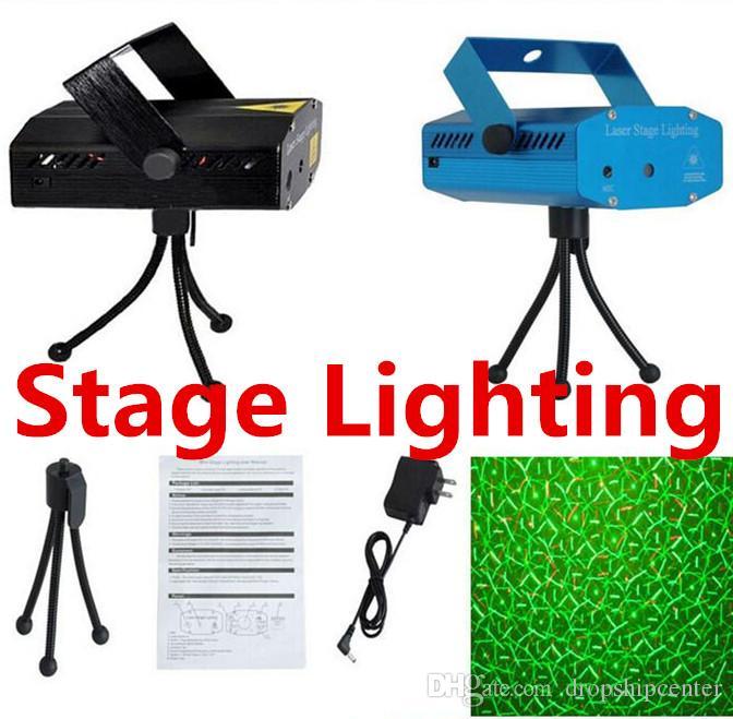 Laser Luzes Ao Ar Livre Iluminação de Palco LED Light Mini 150 MW Luzes de Palco Do Laser Verde Vermelho LEVOU Partido DJ Luz de Palco Luzes Pretas