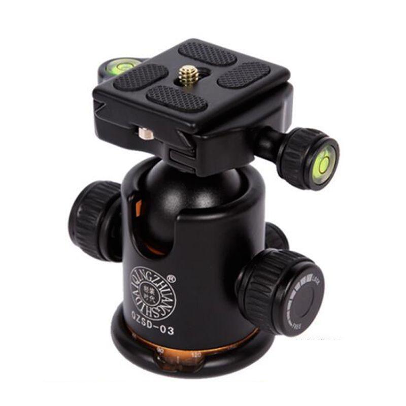Pro caméra trépied rotule plaque de dégagement rapide rotule rotule panoramique Q-03 avec double niveau de bulle QZSD-03 pour reflex numérique Canon Nikon