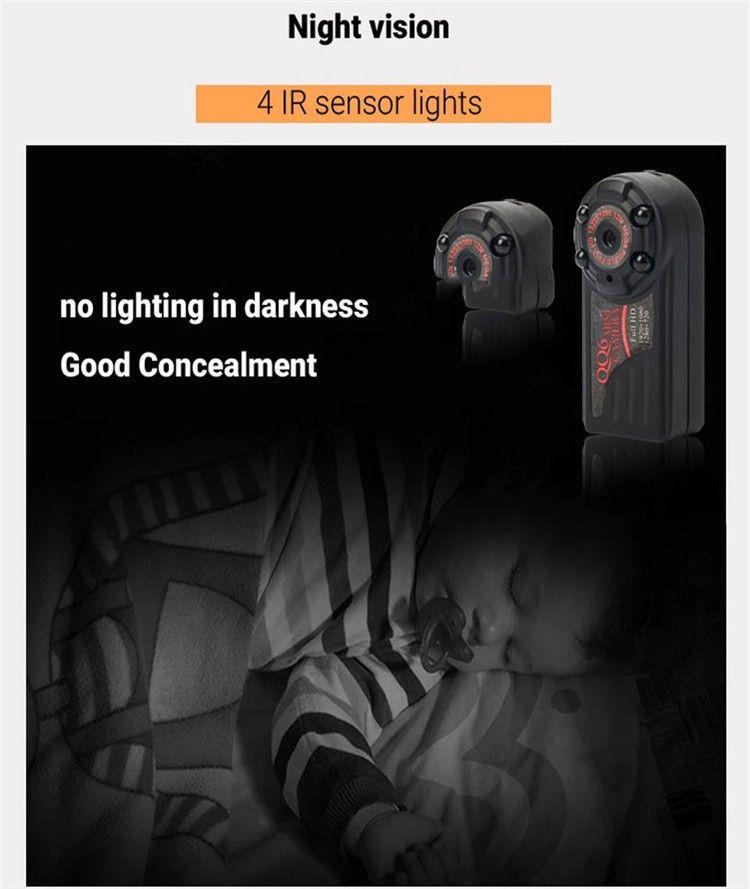 New arrival Smallest Full HD 1080P 720P Mini DV DVR Camera Camcorder IR Night Vision Motion Detect DVR QQ6 MINI DV (8)