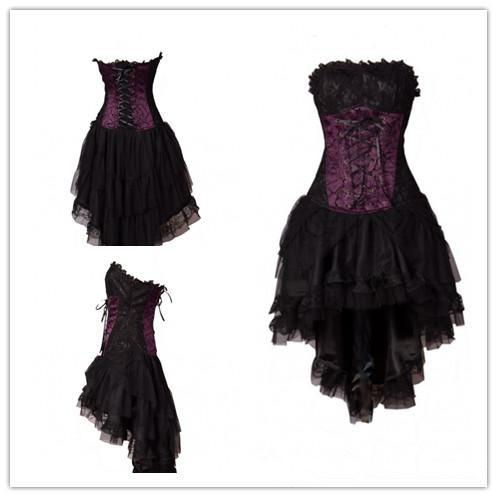 Little Black Dress 2014 Prom Dresse Beachwear Purple Corset High Low ...