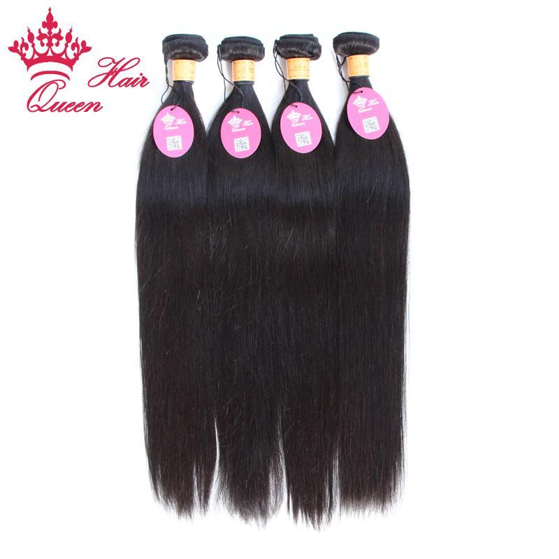 """Drottning Hårprodukter Indiska Virgin Rak Human Hair 8 """"-28"""" Hot Selling DHL Snabb leverans"""