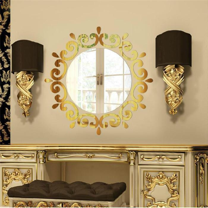 New Arrivals Diy Mirror Wall Art Stickers Murals Decal Fashion Home ...
