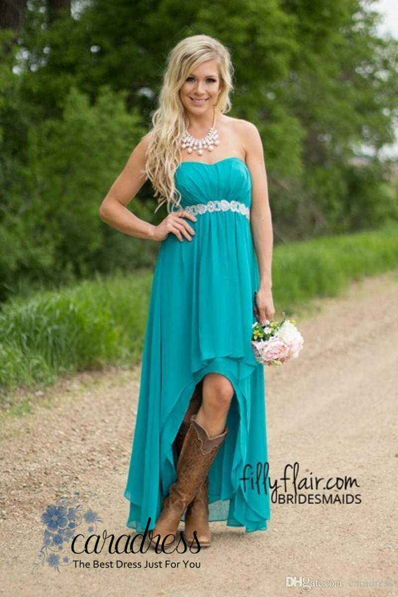 New Elegant Hunter Bridesmaid Dresses Plus Size Strapless Pleats ...
