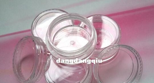 도매 무료 배송 80pcs / Lot 네일 아트 반짝이 먼지 파우더 빈 상자 상자 명확한 냄비 병 컨테이너 3g 3gram / Jar 손톱 도구