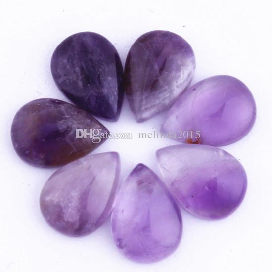 10x14mm Fashion Amethyst Malay Jade etc Natural Stone Pear Shape Beads Cabochon Bead Jewelry Findings Accessories Diy Jewelry Making 30pcs