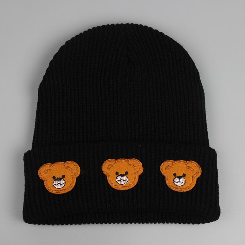Little Bear Beanie Hats Fashion Cartoon Beanies Winter Hat Men Women Cap Knitting Pattern Skull Caps free shipping