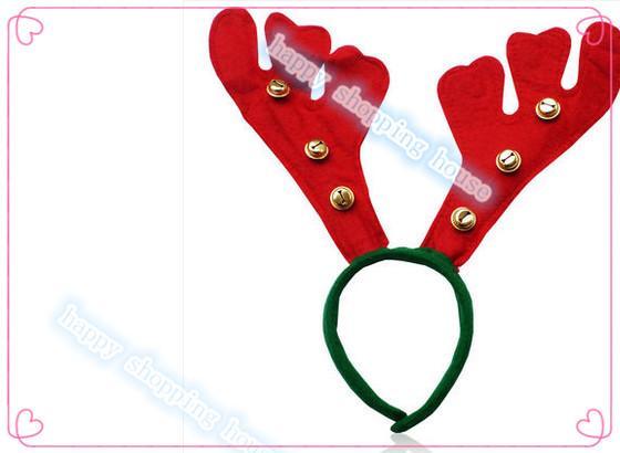 6 adet şapka Ücretsiz kargo Noel dekoratif Kafa Tiara Noel çan elk boynuz hairband büyük açı firkete