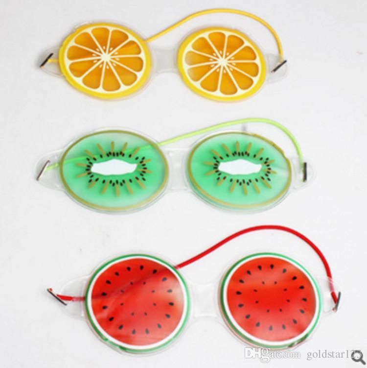 Gel Ice Cooling Máscara para los ojos Paquete frío Warm Relaxing Relief Goggles Máscara para dormir con ojos vendados Mix Color